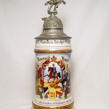 Imperial German Reservist's Stein of Dragoon Rupp