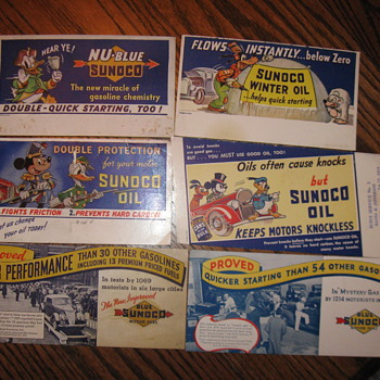 Original Sunoco Advertising Ink Blotters - Petroliana