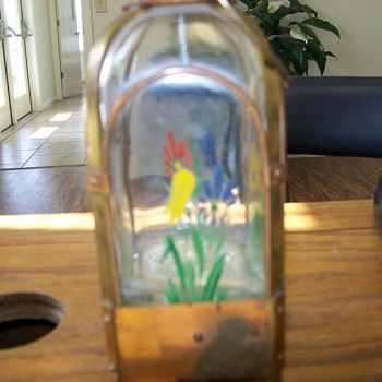 German musical flask - Glassware