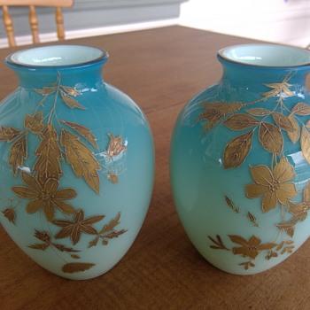 Victorian Cased Vases - Art Glass