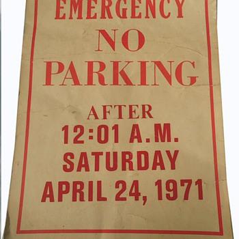 APRIL 24, 1971 Anti Vietnam War Washington DC Protest Parking Sign - Politics