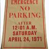 APRIL 24, 1971 Anti Vietnam War Washington DC Protest Parking Sign