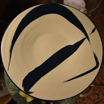 Large Shallow Bowl marked A....? California - Pottery