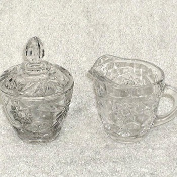 Anchor Hocking Creamer & Sugar Bowl - Glassware