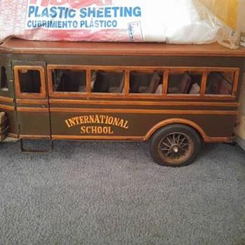 Model Wooden Bus