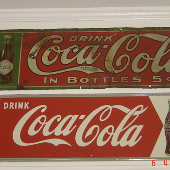 1906 Tin Coke sign-oldest Coke sign I own