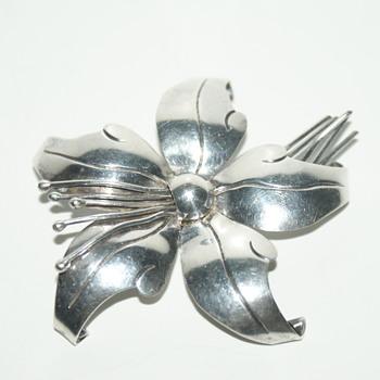 Lopez Taxco Sterling Silver Brooch - Fine Jewelry