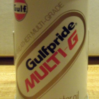 Vintage GULF Multi G Oil Can AM Transistor Radio - Petroliana