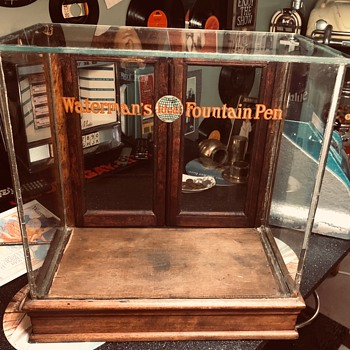 Rare Waterman's Ideal Fountain Pen Display Cabinet - Advertising