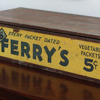 Vintage Seed Box - Advertising