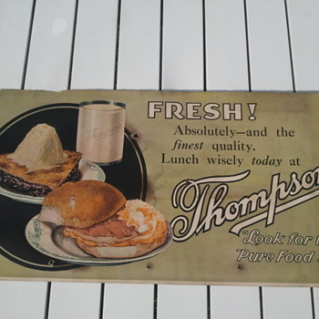Pre-1920's Trolley Car Restaurant Advertisement Sign - Signs