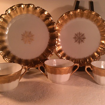 Limoges Gold Snowflake 5 pcs - China and Dinnerware