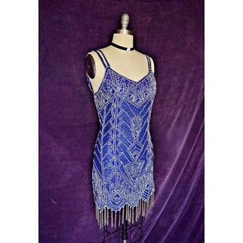 1980's does 1920's Art Deco Style Dress - Womens Clothing