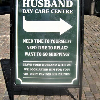 Husband day care centre ... - Signs