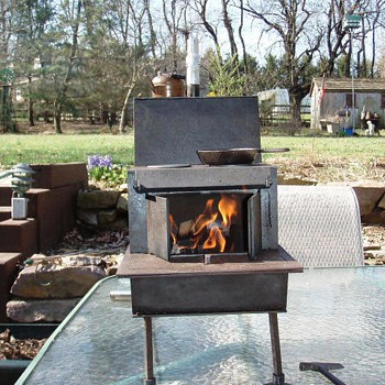 miniature wood fired cook stove - Kitchen