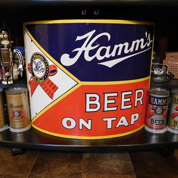 For Pre1950Brew....1930s Hamm's Beer Corner Porcelain  - Advertising