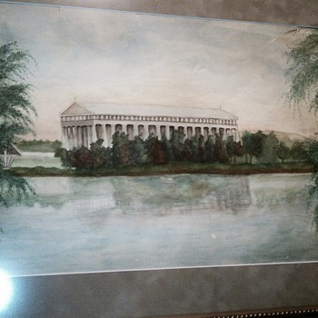 Early Watercolor of the Parthenon in Nashville