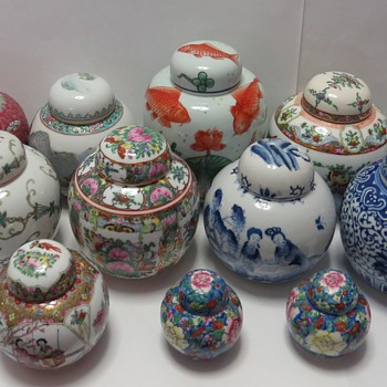 Collection of Ginger Jars - Asian