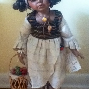 Fruit-Gatherer Porcelain Doll - Dolls