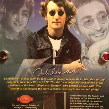 John Lennon shirt piece-1972 - Music Memorabilia