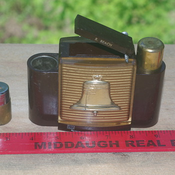 advertising lighter and cigerette holder from state bank of Albany N. Y.