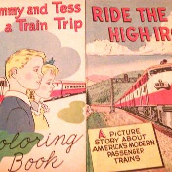 Railroad color books 1950s,1960s