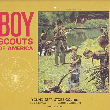 Young Dept Store 1970 Boy Scouts of America Calendar - Sporting Goods