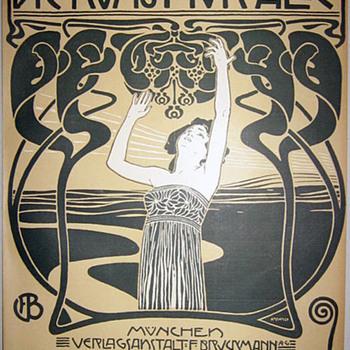 Koloman Moser 1899 Cover Lithograph - Art Nouveau
