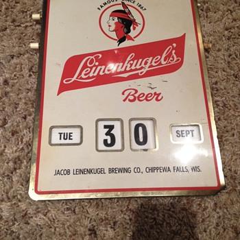 Leinenkugel's Calendar Sign