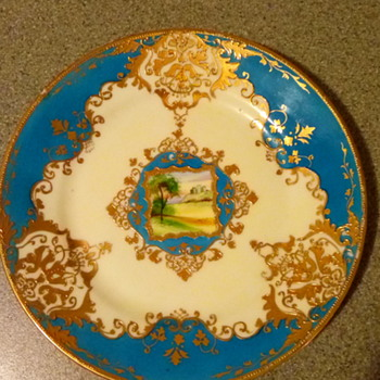 Noritake plate not sure of age or pattern but very nice piece with a picture in the centre - China and Dinnerware