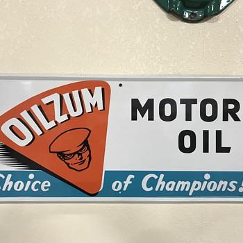 Oilzum motor oil sign  - Signs