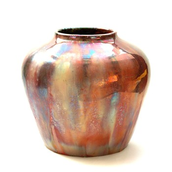 rare leon elchinger lustre pottery vase circa 1920 - Art Nouveau
