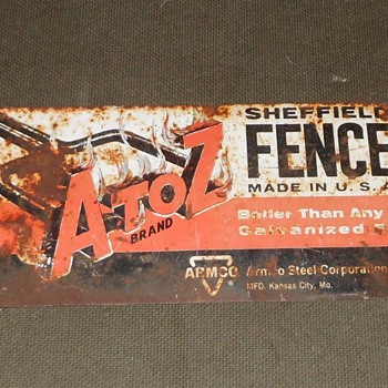 A to Z Brand Sheffield Fence Sign