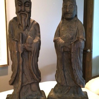 Asian Wood sculptures - Asian