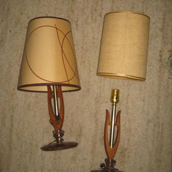 Danish Modern -Wish-Bone style lamps - Mid-Century Modern