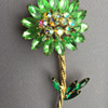 Possibly D&E Juliana Rhinestone Flower Pin