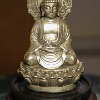 Weighted Silver or Nickel Silver Amitahba Buddha - Asian