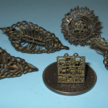 "18th Century Bronze Henna ""Tatoo"" Stamps - Accessories"
