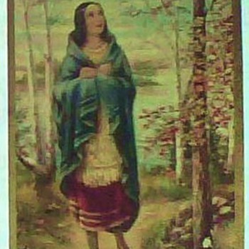 1927 Prayer Card of 1st Native American Saint/Kateri Tekakwitha