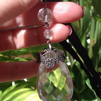 Silver, Rock Crystal Arts and Craft Pendant