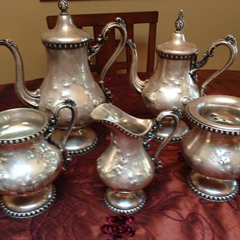 Grandma's Tea Set - Various Roger's Smith and Co. labels - Silver