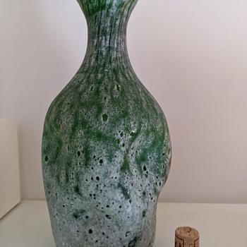 mis-shapen glass vase - Art Glass