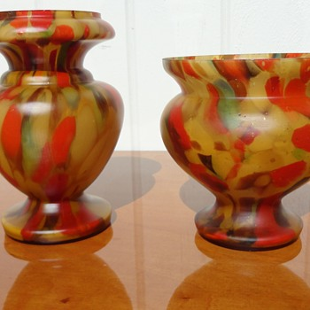 Sub Groups of Tan Ruckl Spatter - Art Glass