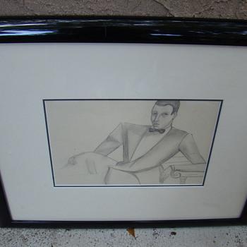 Tamara De Lempicka Penicl Drawing  du Marquis Sommi - 1925 - Fine Art