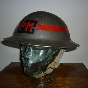 British WWII Provost Marshal steel helmet. - Military and Wartime