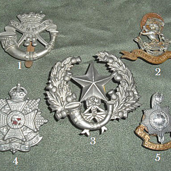 Badges for all 1914 British Line Infantry Regiments, Part 4 - Military and Wartime