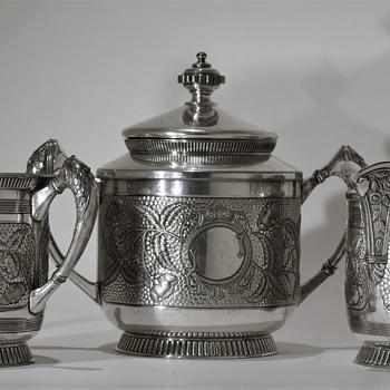 James W. Tufts Sugar Set (pre - 1895) - Silver