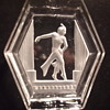 Unusual Satin Intaglio Depiction of Dancer in Ashtray- Bohemian/German?