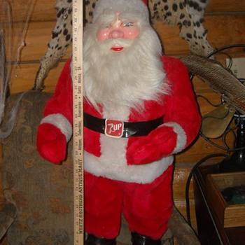 Large 7 Up Store Display Santa Claus - Christmas