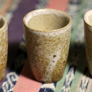 Three Hand-thrown Saki Cups - Pottery